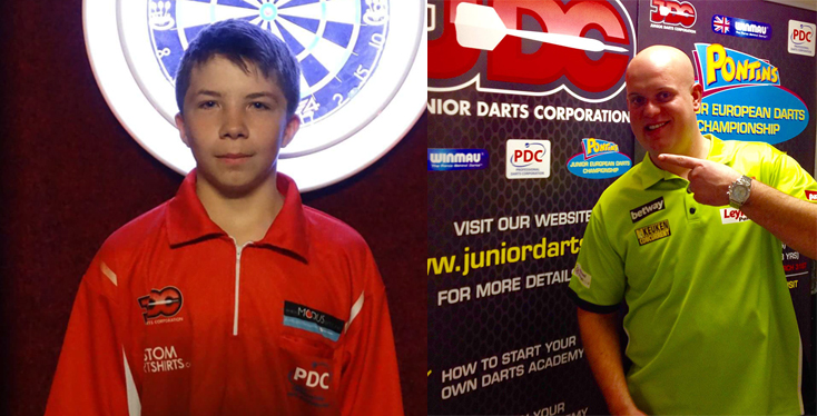 Michael van Gerwen and Tyler Radlett
